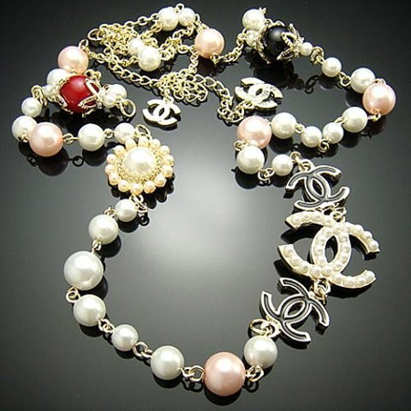 LONG CHANEL STATEMENT NECKLACE