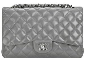 CHANEL HANDBAG Grey Not A Replica 19s